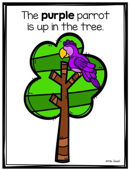 Emergent Reader for Beginning Readers - Color Words and Sight Words – Parrots