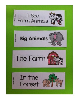 Emergent Reader for Beginning Readers – I See Farm Animals