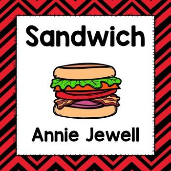 Emergent Reader for Beginning Readers – Sandwich