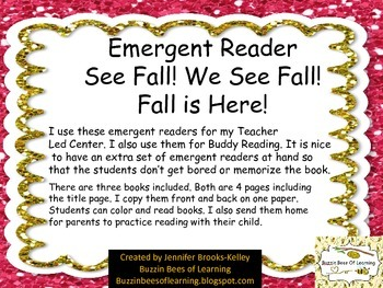 Emergent Reader for Fall is Here!