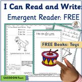 Emergent Reader for Kindergarten & First Grade: Toys FREE   SASSOON Font
