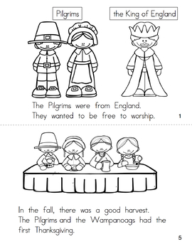Thanksgiving Activities Emergent Reader
