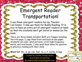 Emergent Reader for Transportation with labeling practice.