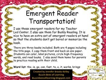 Emergent Reader for Transportation with labeling practice.