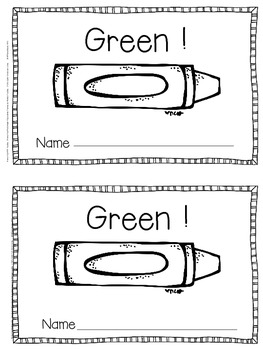 Emergent Reader for the Color Word Green