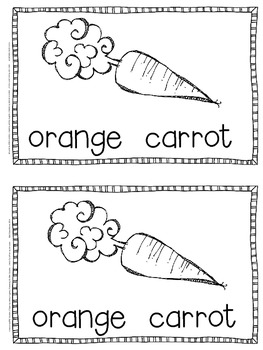 Emergent Reader for the Color Word Orange