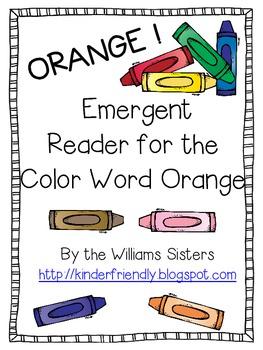 Emergent Reader for the Color Word Orange