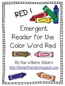Emergent Reader for the Color Word Red