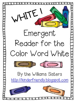 Emergent Reader for the Color Word White