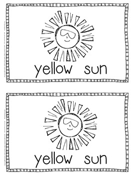 Emergent Reader for the Color Word Yellow