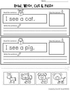 Emergent Reader for the Sight Word A