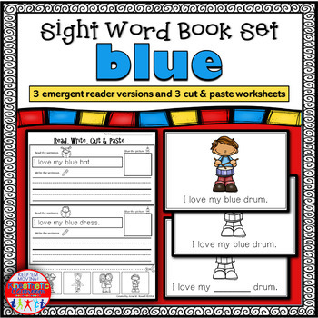 Emergent Reader for the Sight Word BLUE