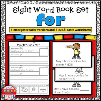 Emergent Reader for the Sight Word FOR
