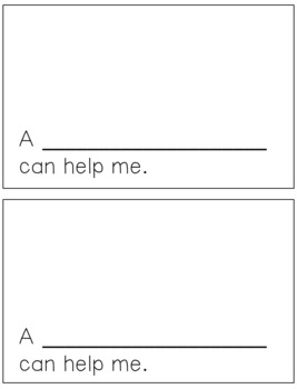 Emergent Reader for the Sight Word HELP