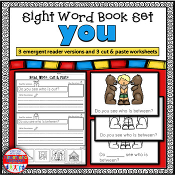 Emergent Reader for the Sight Word YOU