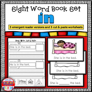 Emergent Reader for the Sight Word IN