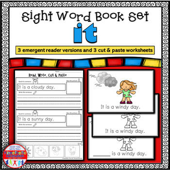Emergent Reader for the Sight Word IT