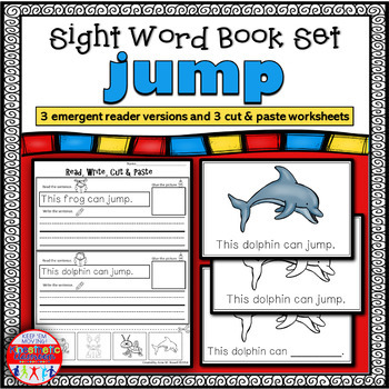 Emergent Reader for the Sight Word JUMP