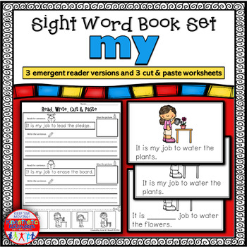Emergent Reader for the Sight Word MY