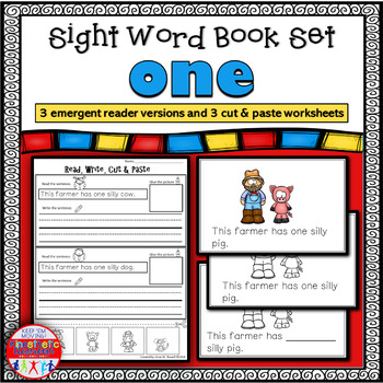 Emergent Reader for the Sight Word ONE