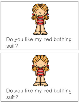 Emergent Reader for the Sight Word RED