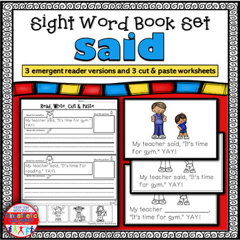 Emergent Reader for the Sight Word SAID