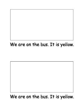 Emergent Reader (sight words: we, are, it, is)