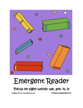 School Emergent Reader (sight words: we, are, it, is)