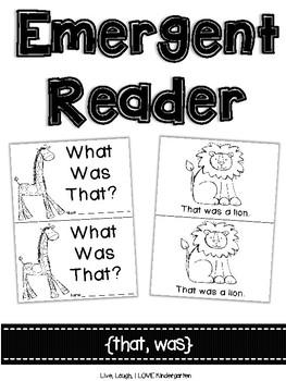 Emergent Reader {was, that}