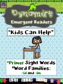 Emergent Reader with Short i Word Families and Dolch Primer Sight Words