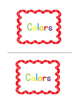 Colors Emergent Reader Sight Words I AM and COLOR WORDS