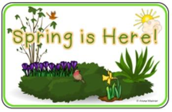 Emergent Reader/Easy Reader: Spring is Here!