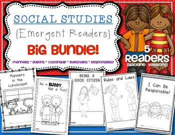 Readers {Character BIG BUNDLE} Social Studies Kindergarten & First Grade