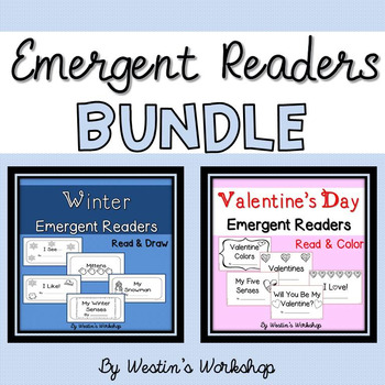 Emergent Readers BUNDLE - Winter & Valentine's Day!