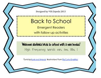 Emergent Readers- Back to School Mini Books