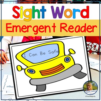 Emergent Readers | Back to School Staying Safe School Rules Booklet