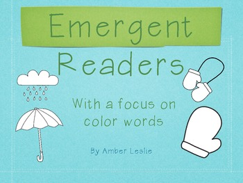 Emergent Readers: Color Words