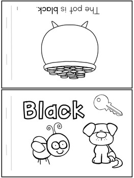 Emergent Readers: Color Words BLACK