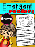 Emergent Readers: Color Words BROWN