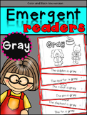 Emergent Readers: Color Words GRAY