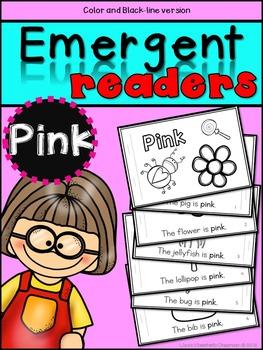 Emergent Readers: Color Words PINK