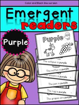 Emergent Readers: Color Words PURPLE