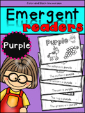 Emergent Readers: Color Words PURPLE