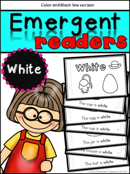 Emergent Readers: Color Words WHITE