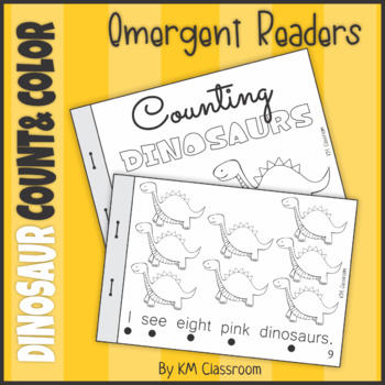 Emergent Readers Count and Color Dinosaurs