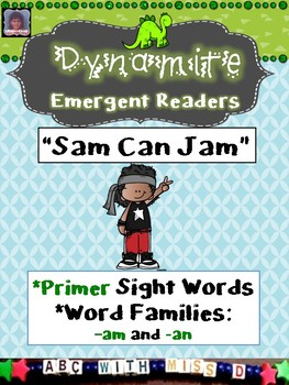 Emergent Readers- Dolch Primer Sight Words and Short A Word Families