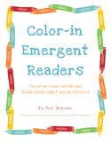 Emergent Readers - Focus on Color Words