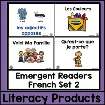 Emergent Readers French Set 2 bundle