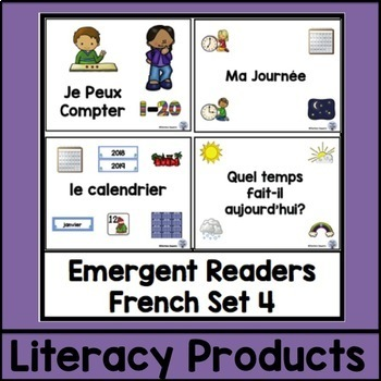 Emergent Readers French Set 4 bundle