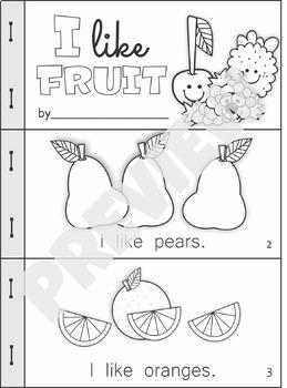 Emergent Readers I Like Fruit